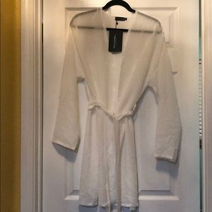 White bathing suit coverup